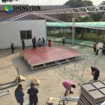 Portable Stage Lighting Backdrop Frame Aluminum Alloy Stage Frame Truss Structure For Sale