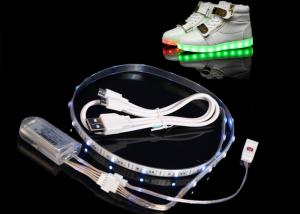 China 60CM 24 RGB Battery Powered Led Light Strips USB Colorful Changing on sale