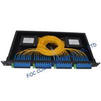 Pon / Lan Rack Mount Fiber Plc Splitter 1x2 , 1x4 , 1x8 , 1x16 , 1x32 , 1x64