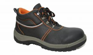 China Comfortable Steel Toe Work Shoes , Genuine Leather Work Shoes Anti Shock on sale