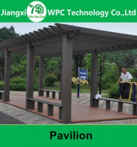 China Outdoor Wpc Composite Pergola, High Quality Wpc Composite Carport,Hard Wood Pavilion on sale