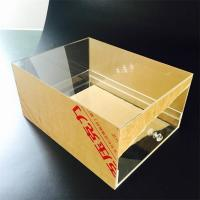 Custom Transparent Acrylic Shoes Box With drawer Manufacturers
