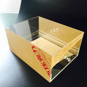 China Custom Transparent Acrylic Shoes Box With drawer Manufacturers on sale