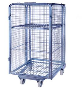 China Wire mesh security roll container warehouse roll cage on sale
