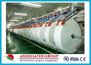 China Tissu non-tissé de recouvrement croisé de 45Gsm Hygeian Spunlace pour des chiffons de bébé, confortable on sale