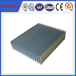 Quality industry aluminum profiles heatsink, OEM customized drawing industrial aluminum heat sink for sale