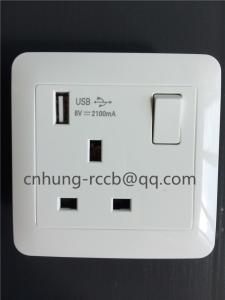 China single USB wall switch socket on sale
