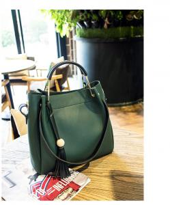 China Tassel Totes PU Women Bags Simply Copy Leather Portable Briefcase  Lady Bucket Bags on sale