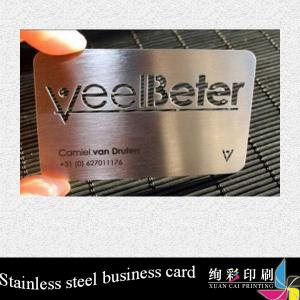 China Professional Unique Custom Metal Business Cards / Metal Playing Card on sale