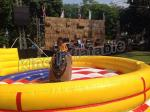 Outdoor Playground Inflatable Bull Pool Ride On Electric Bull With 0.55mm PVC Tarpaulin