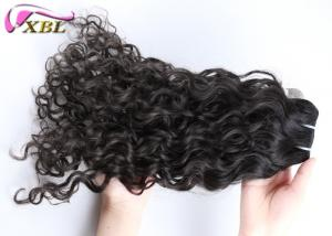 China Soft Smooth Indian Virgin Hair , Human Hair Indian Remy Curly Weave For Women on sale