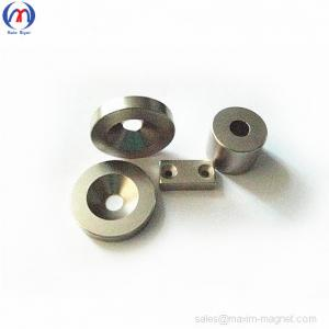 China Neodymium disc magnets with countersunk holes on sale