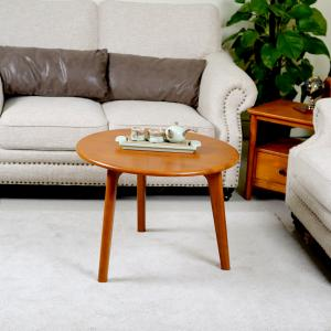 China Retro Round Solid Wood Coffee Tables on sale