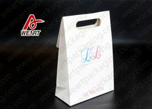 China Custom Unique Design  Printed Commercial Shopping Die Cut Candy Paper Bag on sale