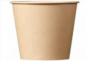 China Ripple Single Wall Disposable Paper Cups / PLA Coated Coffee Paper Cup on sale