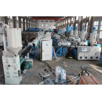 China Single Screw PE Pipe Production Line , Plastic Extruder Machine on sale