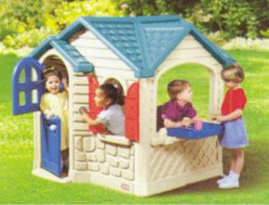 China Custom Log Cabin Cubby House Design for Kids Play Games on sale