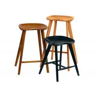 Solid Wood Restaurant Bar Chairs Stools , Economic Contemporary Bar Stools