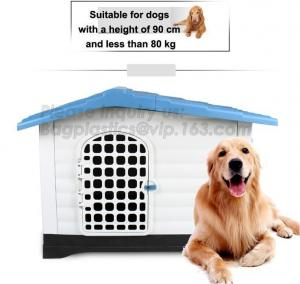China PP European Style Plastic Dog House, Pet Waterproof Outdoor Winter House,Dog Kennel, low MOQ luxury kitty cat house, pac on sale