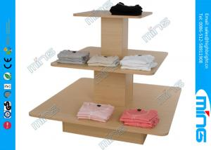 China Economy T Shirt Wooden Store Display Table in Melamine , Modern Design on sale