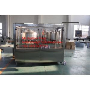 China Bière et remplissage de boîte en aluminium de boissons et machine carbonatés de cachetage on sale