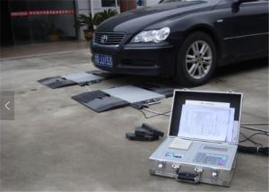 China Small Moveable Dynamic Axle Weighbridge , Vehicle Weighing Pads 10kg Division on sale