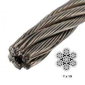 China 7 X19 Aircraft Cable 500 Ft Break Strength 4200lb Carbon Steel Vinyl Coated on sale