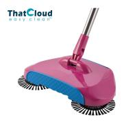360 Degree Spin Brush Broom ABS Portable Hand Push Sweeper  No Battery