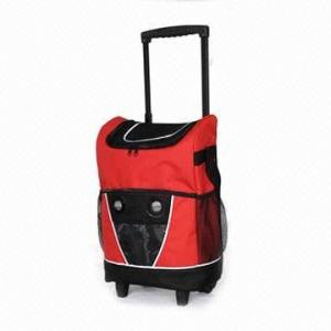 China Radio Cooler Trolley Bag Cooler bag with speaker with trolley on sale