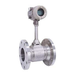 China 4-20mA output water steam flow meter hydrogen gas flow meter vortex flow meter supplier