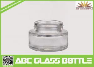 China Best Selling Foundation Bottle Glass Cosmetic Cream Container,Clear Skin Care Glass Bottle on sale