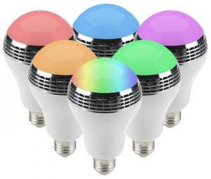 China Multicolored Bluetooth Music Light Bulb Clear And Big Sound Energy Efficient on sale
