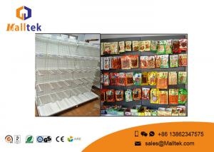 China Commercial Perforated Supermarket Gondola Shelving Double Sided For Shopping Mall on sale