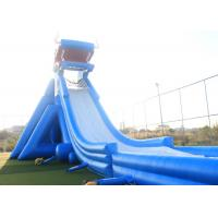 Blue Giant Inflatable Water Slide For Adult 3 Layers Pvc Tarpaulin Material