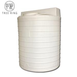 China 660 Gallon UV Resistant Chemical Dosing Tank Vertical Dome Top Water Tank With Drain Hole on sale
