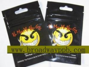 China Custom Ziplock Herbal Incense Bag on sale