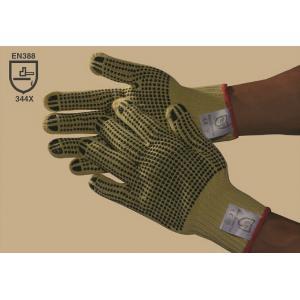 China le PVC de double-side de 100 % Kevlar a pointillé le gant, la résistance de coupe, antidérapante, Gauge10 on sale