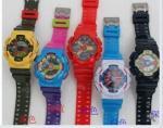 Пластиковые смешанные цифровые часы детей цветов, изготовленная на заказ картина мультфильма