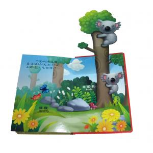 China CMYK / PMS color printing C2S art paper 3D characters Childrens Book Printing Service on sale