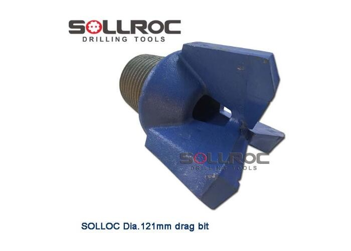 """3-7//8/"""" Three Wing Carbide Step Drag Bit 2-3//8API Pin Water Well Geothermal Drill"""