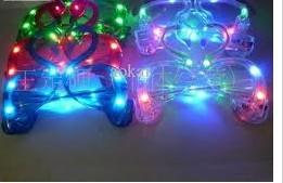 China customized logo swans shape LED flashing toys , plastic LED party glasses FA12093 on sale