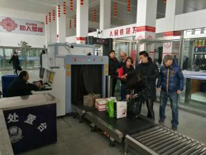 China Oversize X Ray Scanning System , Airport Luggage Scanner With Windows System on sale