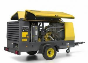 China 12 bar 10 m³ / Min Capacity Portable Air Compressor Atlas Copco XAHS166C Cummins diesel Optimal size on sale