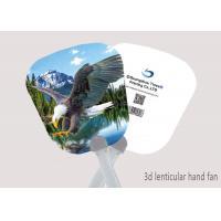 China 16x17cm Hand Fan 3D Lenticular Printing Service 3D Deep For Summer Season on sale