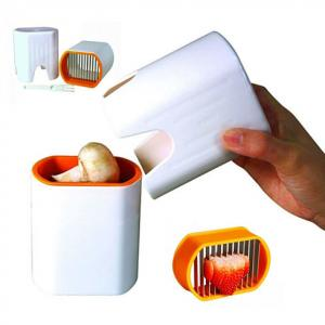 China Mini Plastic Vegetable Cutter Reusable , Egg Fruit And Vegetable Chopper on sale