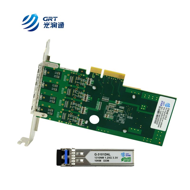 PCIe Ethernet NIC Card Intel I350 chip 1Gb 4-port SFP network
