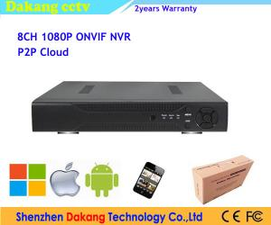 China 1080P P2P Cloud 8 Channel H.264 Digital Video Recorder Network on sale
