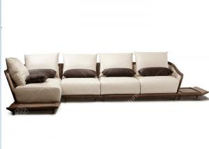 China Comfortable Corner Living Room Sofa Set Classic Fabirc L Shaped High Grade on sale