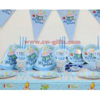 Boy 1st theme birthday party decoration set birthday party supplies baby birthday party pack