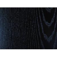 China Zebrano Black Ash Wood Veneer 8mm - 21mm , Decorative Wood Veneer Edgeing on sale